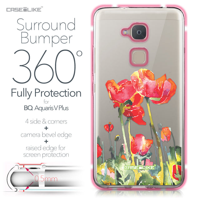 BQ Aquaris V Plus case Watercolor Floral 2230 Bumper Case Protection | CASEiLIKE.com