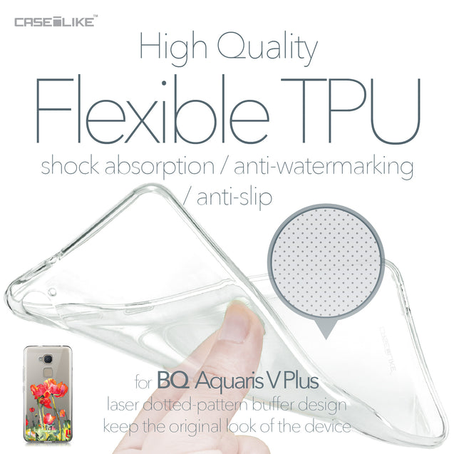 BQ Aquaris V Plus case Watercolor Floral 2230 Soft Gel Silicone Case | CASEiLIKE.com