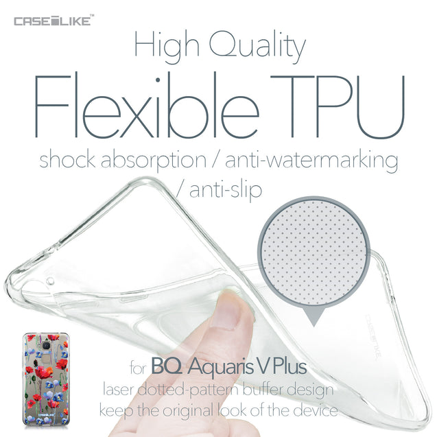 BQ Aquaris V Plus case Watercolor Floral 2234 Soft Gel Silicone Case | CASEiLIKE.com