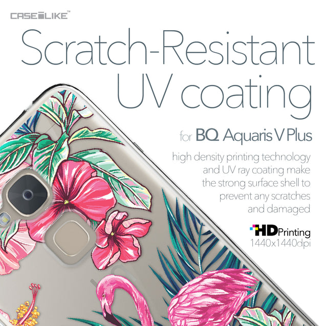 BQ Aquaris V Plus case Tropical Flamingo 2239 with UV-Coating Scratch-Resistant Case | CASEiLIKE.com
