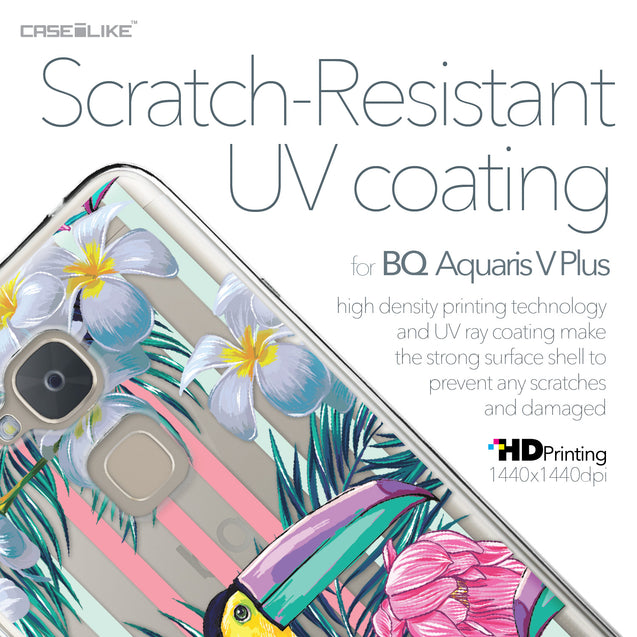 BQ Aquaris V Plus case Tropical Floral 2240 with UV-Coating Scratch-Resistant Case | CASEiLIKE.com