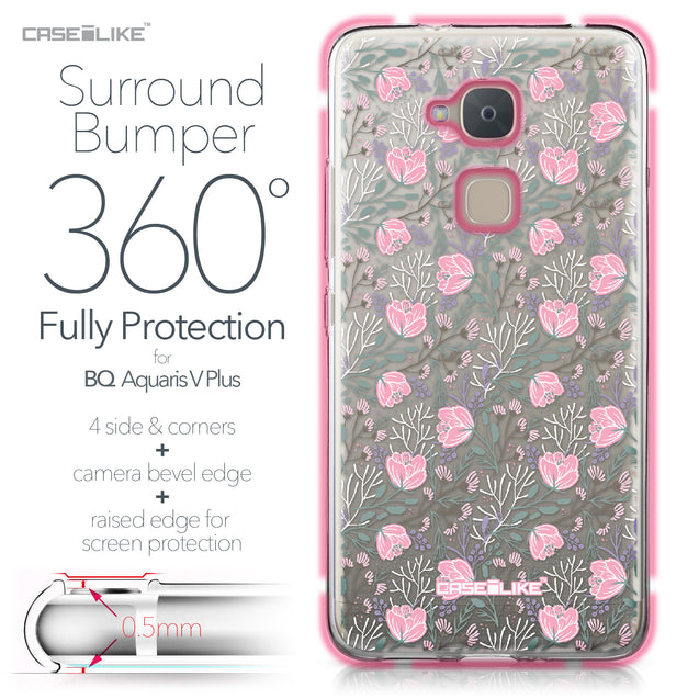BQ Aquaris V Plus case Flowers Herbs 2246 Bumper Case Protection | CASEiLIKE.com