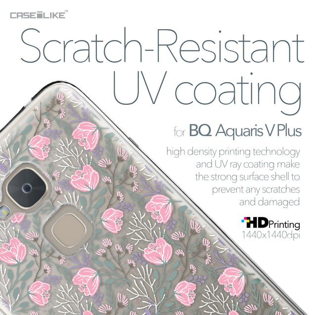 BQ Aquaris V Plus case Flowers Herbs 2246 with UV-Coating Scratch-Resistant Case | CASEiLIKE.com