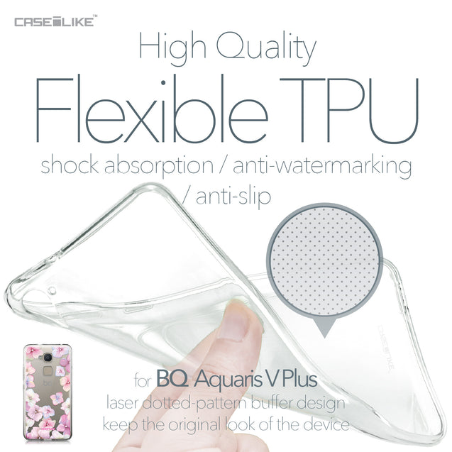 BQ Aquaris V Plus case Hydrangea 2257 Soft Gel Silicone Case | CASEiLIKE.com