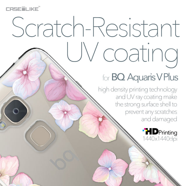 BQ Aquaris V Plus case Hydrangea 2257 with UV-Coating Scratch-Resistant Case | CASEiLIKE.com