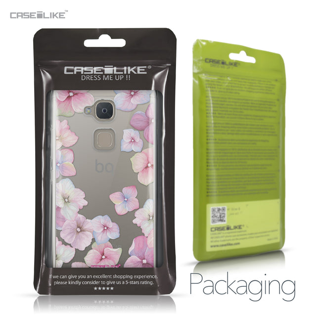 BQ Aquaris V Plus case Hydrangea 2257 Retail Packaging | CASEiLIKE.com