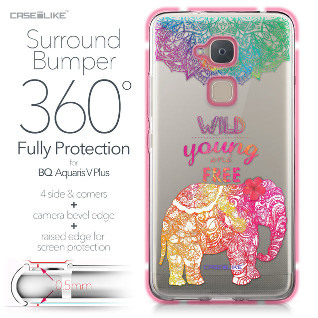 BQ Aquaris V Plus case Mandala Art 2302 Bumper Case Protection | CASEiLIKE.com