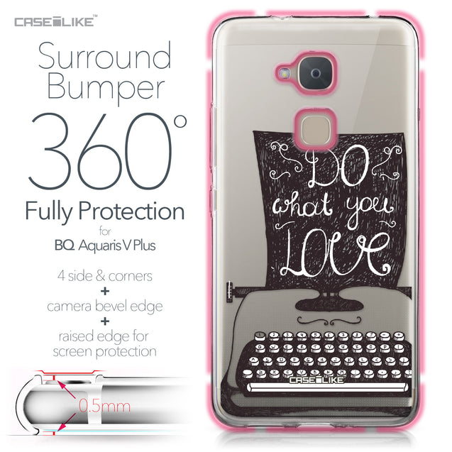 BQ Aquaris V Plus case Quote 2400 Bumper Case Protection | CASEiLIKE.com