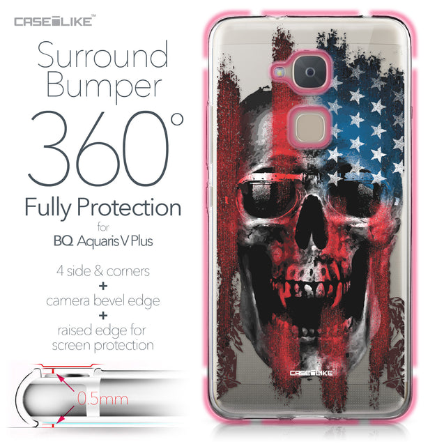 BQ Aquaris V Plus case Art of Skull 2532 Bumper Case Protection | CASEiLIKE.com