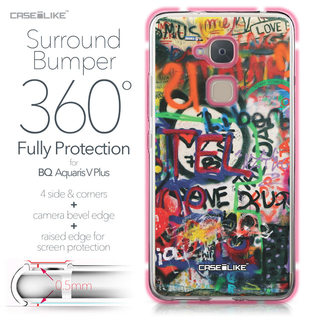 BQ Aquaris V Plus case Graffiti 2721 Bumper Case Protection | CASEiLIKE.com