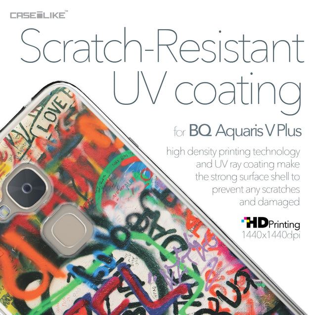 BQ Aquaris V Plus case Graffiti 2721 with UV-Coating Scratch-Resistant Case | CASEiLIKE.com