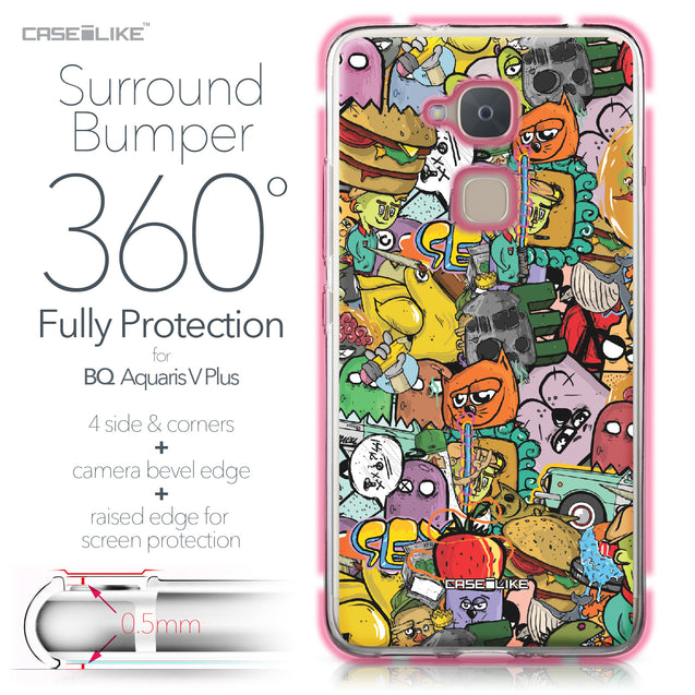 BQ Aquaris V Plus case Graffiti 2731 Bumper Case Protection | CASEiLIKE.com