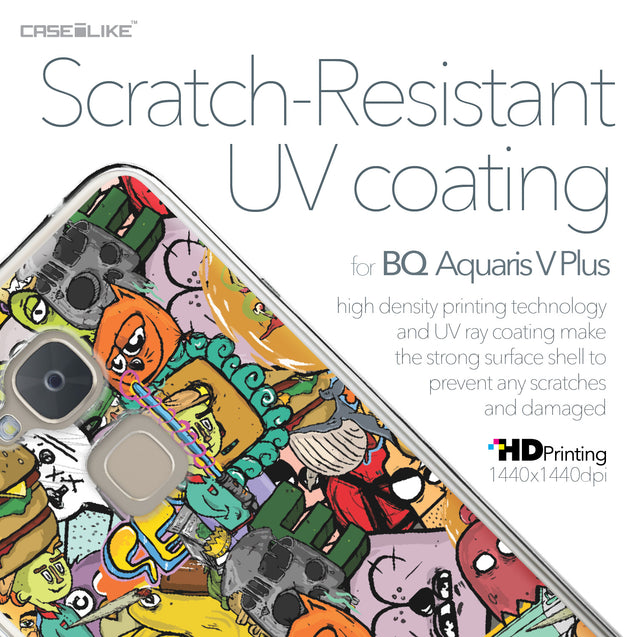 BQ Aquaris V Plus case Graffiti 2731 with UV-Coating Scratch-Resistant Case | CASEiLIKE.com
