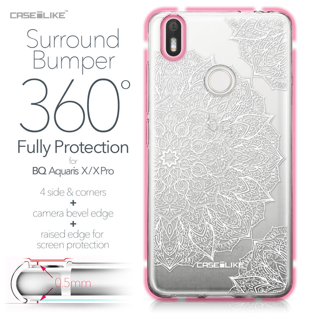 BQ Aquaris X / X Pro case Mandala Art 2091 Bumper Case Protection | CASEiLIKE.com