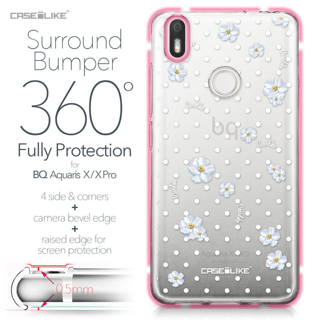 BQ Aquaris X / X Pro case Watercolor Floral 2235 Bumper Case Protection | CASEiLIKE.com
