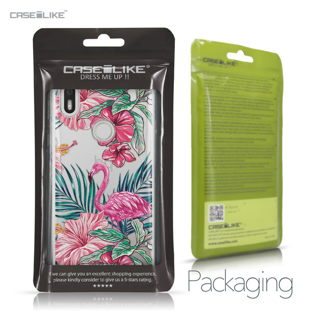 BQ Aquaris X / X Pro case Tropical Flamingo 2239 Retail Packaging | CASEiLIKE.com