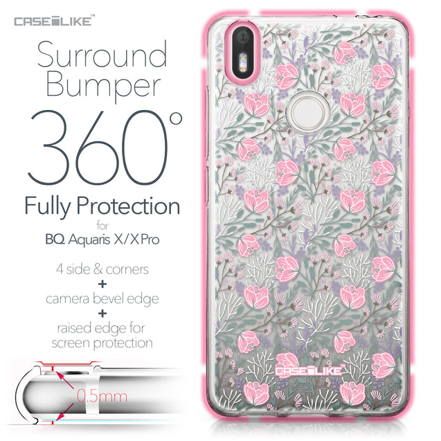 BQ Aquaris X / X Pro case Flowers Herbs 2246 Bumper Case Protection | CASEiLIKE.com
