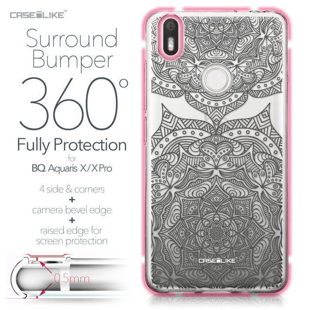BQ Aquaris X / X Pro case Mandala Art 2304 Bumper Case Protection | CASEiLIKE.com