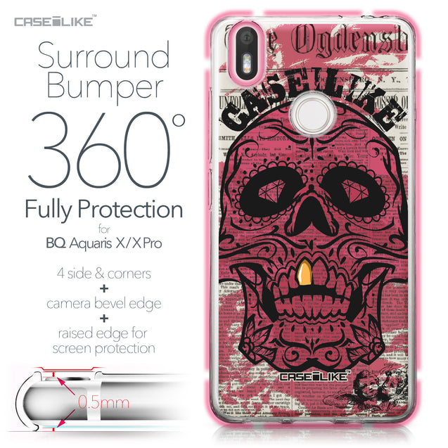 BQ Aquaris X / X Pro case Art of Skull 2523 Bumper Case Protection | CASEiLIKE.com