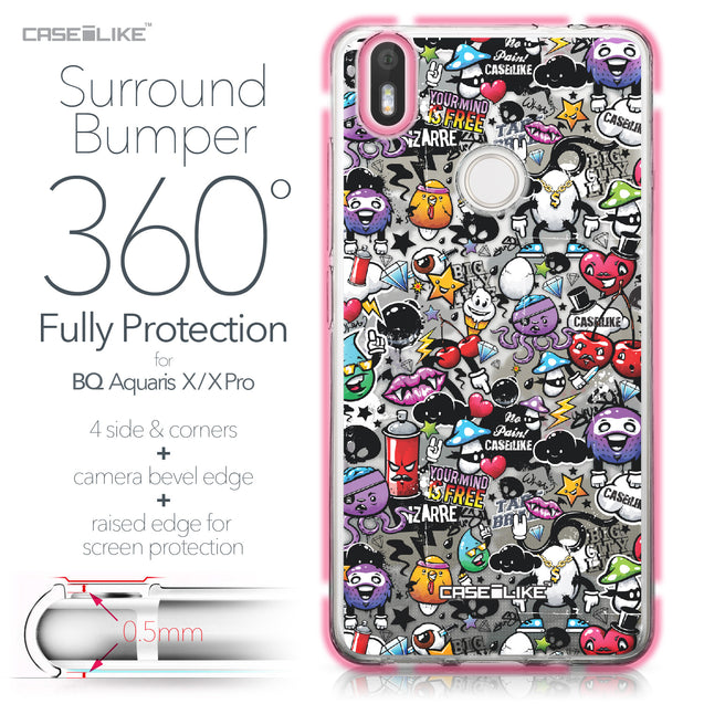 BQ Aquaris X / X Pro case Graffiti 2703 Bumper Case Protection | CASEiLIKE.com