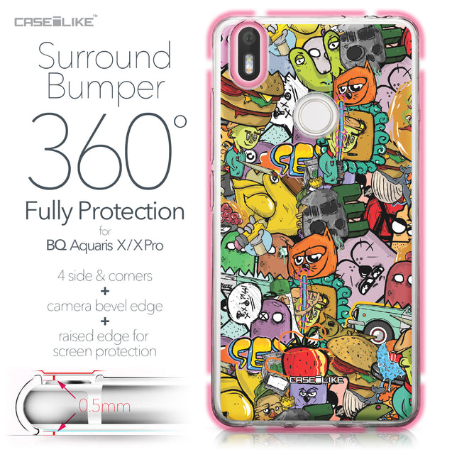 BQ Aquaris X / X Pro case Graffiti 2731 Bumper Case Protection | CASEiLIKE.com