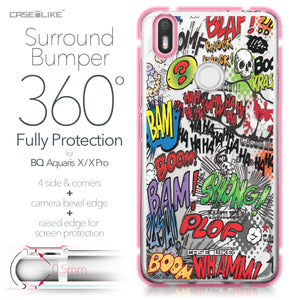 BQ Aquaris X / X Pro case Comic Captions 2914 Bumper Case Protection | CASEiLIKE.com