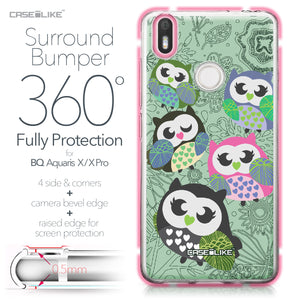 BQ Aquaris X / X Pro case Owl Graphic Design 3313 Bumper Case Protection | CASEiLIKE.com