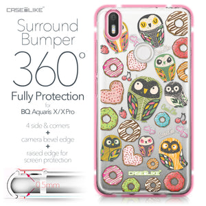BQ Aquaris X / X Pro case Owl Graphic Design 3315 Bumper Case Protection | CASEiLIKE.com