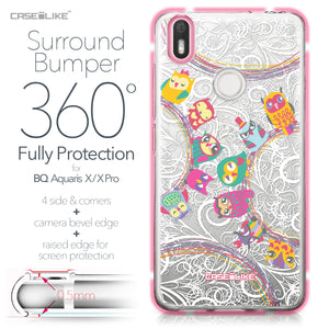 BQ Aquaris X / X Pro case Owl Graphic Design 3316 Bumper Case Protection | CASEiLIKE.com