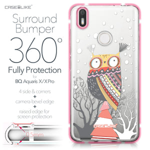 BQ Aquaris X / X Pro case Owl Graphic Design 3317 Bumper Case Protection | CASEiLIKE.com