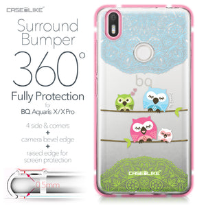 BQ Aquaris X / X Pro case Owl Graphic Design 3318 Bumper Case Protection | CASEiLIKE.com