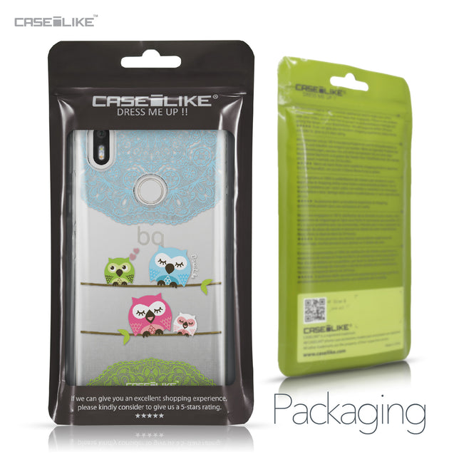 BQ Aquaris X / X Pro case Owl Graphic Design 3318 Retail Packaging | CASEiLIKE.com