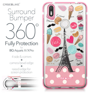 BQ Aquaris X / X Pro case Paris Holiday 3904 Bumper Case Protection | CASEiLIKE.com