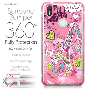 BQ Aquaris X / X Pro case Paris Holiday 3905 Bumper Case Protection | CASEiLIKE.com