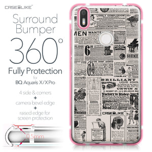 BQ Aquaris X / X Pro case Vintage Newspaper Advertising 4818 Bumper Case Protection | CASEiLIKE.com