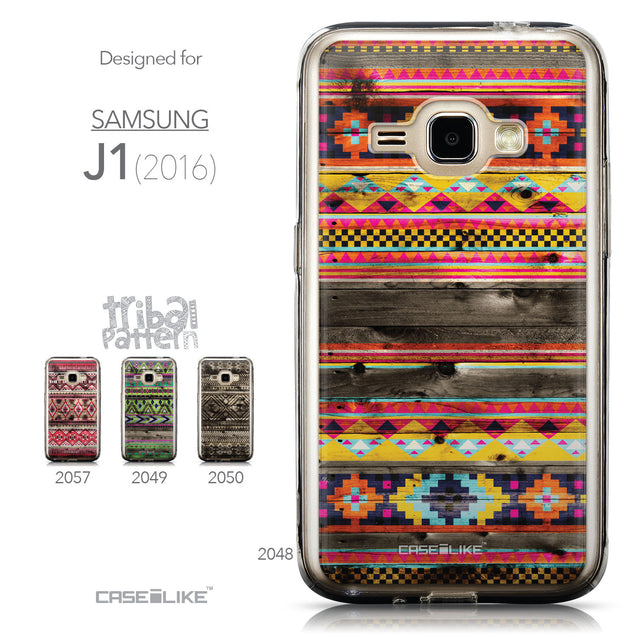 Collection - CASEiLIKE Samsung Galaxy J1 (2016) back cover Indian Tribal Theme Pattern 2048