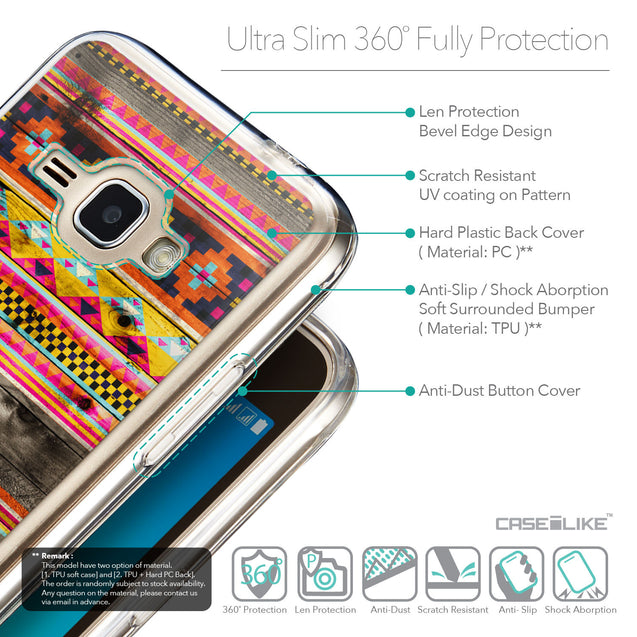 Details in English - CASEiLIKE Samsung Galaxy J1 (2016) back cover Indian Tribal Theme Pattern 2048