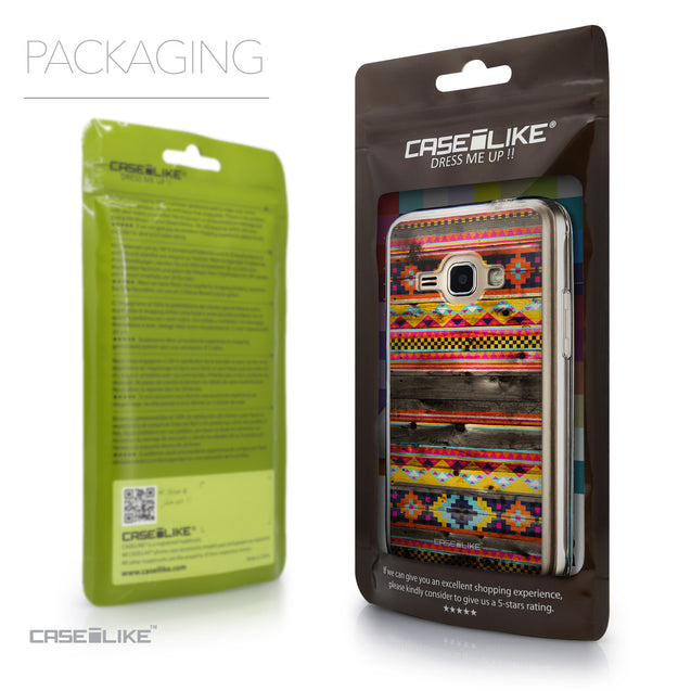 Packaging - CASEiLIKE Samsung Galaxy J1 (2016) back cover Indian Tribal Theme Pattern 2048