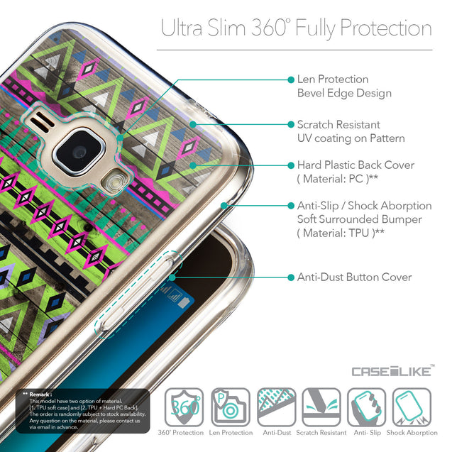 Details in English - CASEiLIKE Samsung Galaxy J1 (2016) back cover Indian Tribal Theme Pattern 2049