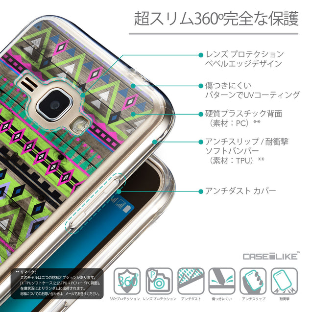 Details in Japanese - CASEiLIKE Samsung Galaxy J1 (2016) back cover Indian Tribal Theme Pattern 2049