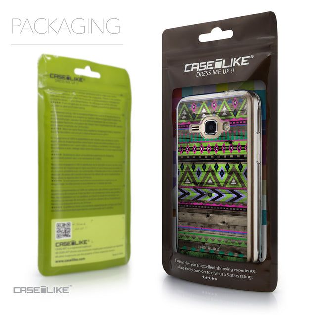 Packaging - CASEiLIKE Samsung Galaxy J1 (2016) back cover Indian Tribal Theme Pattern 2049
