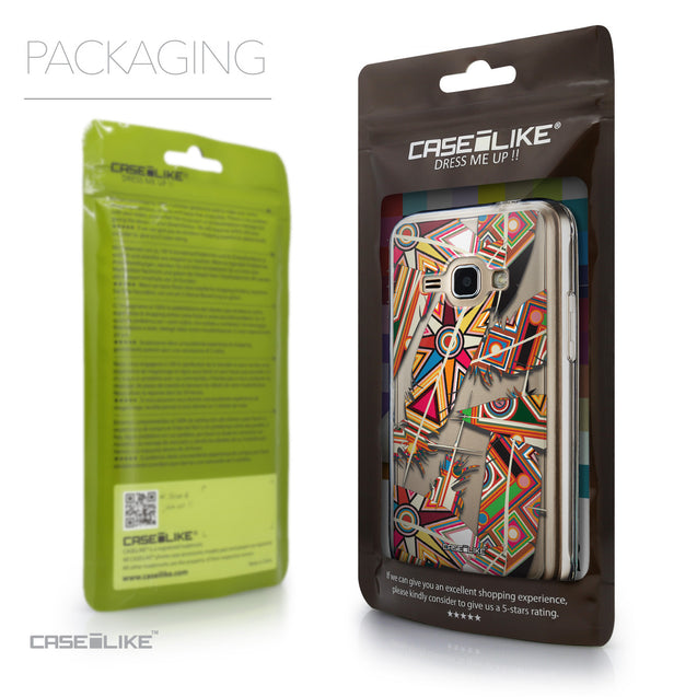 Packaging - CASEiLIKE Samsung Galaxy J1 (2016) back cover Indian Tribal Theme Pattern 2054