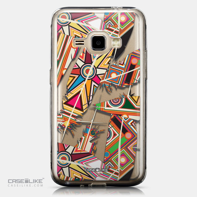 CASEiLIKE Samsung Galaxy J1 (2016) back cover Indian Tribal Theme Pattern 2054