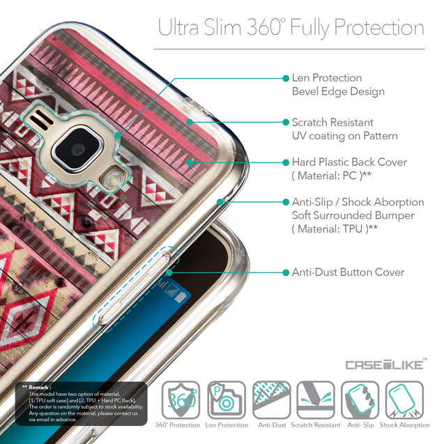 Details in English - CASEiLIKE Samsung Galaxy J1 (2016) back cover Indian Tribal Theme Pattern 2057