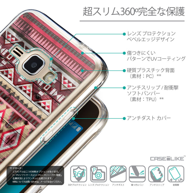 Details in Japanese - CASEiLIKE Samsung Galaxy J1 (2016) back cover Indian Tribal Theme Pattern 2057