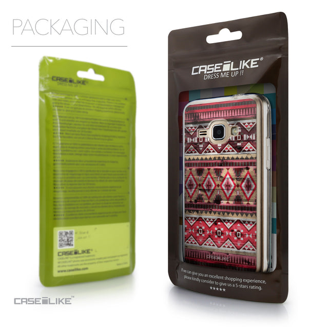 Packaging - CASEiLIKE Samsung Galaxy J1 (2016) back cover Indian Tribal Theme Pattern 2057