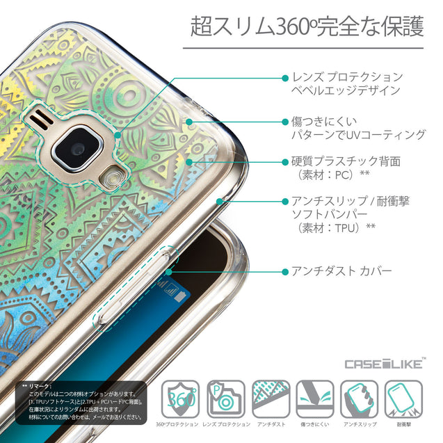 Details in Japanese - CASEiLIKE Samsung Galaxy J1 (2016) back cover Indian Line Art 2064