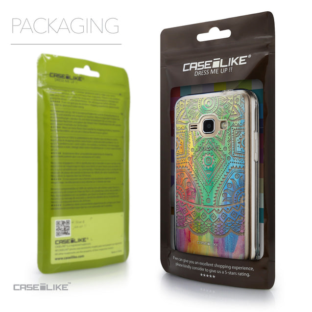 Packaging - CASEiLIKE Samsung Galaxy J1 (2016) back cover Indian Line Art 2064
