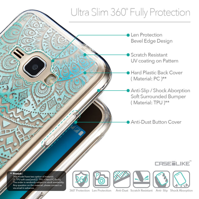 Details in English - CASEiLIKE Samsung Galaxy J1 (2016) back cover Indian Line Art 2066