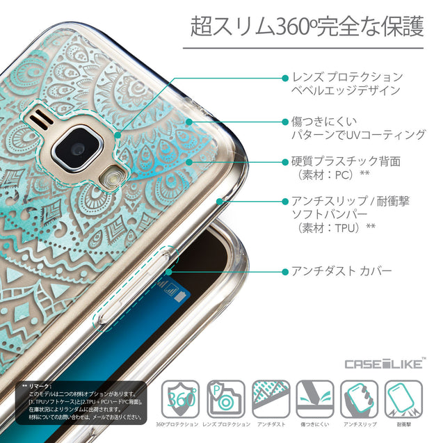 Details in Japanese - CASEiLIKE Samsung Galaxy J1 (2016) back cover Indian Line Art 2066